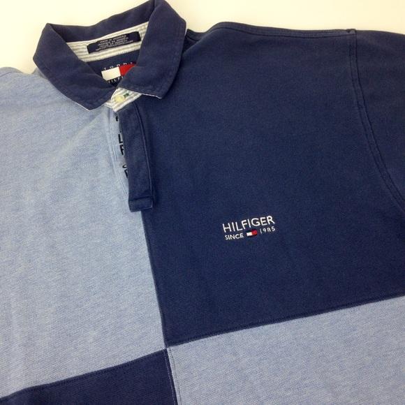 90d7d6be Vintage Shirts | Tommy Hilfiger 90s Color Block Polo Sz L | Poshmark